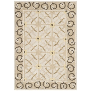 Safavieh Hand-hooked Newport Taupe/ Beige Cotton Rug (2' x 3')