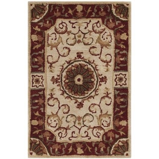 Safavieh Handmade Empire Dani Traditional Oriental Wool Rug (2 x 3 - Ivory/Red)
