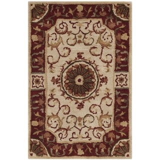 Safavieh Handmade Empire Dani Traditional Oriental Wool Rug (2 x 3 - Ivory/Red)