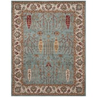 Safavieh Handmade Heritage Timeless Traditional Blue/ Ivory Wool Rug - 9' x 12'