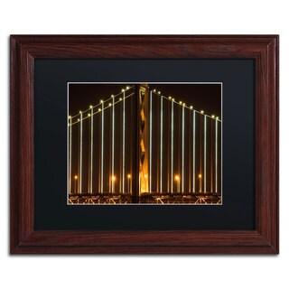 David Ayash 'Bay Bridge - San Francisco' Black Matte, Wood Framed Wall Art