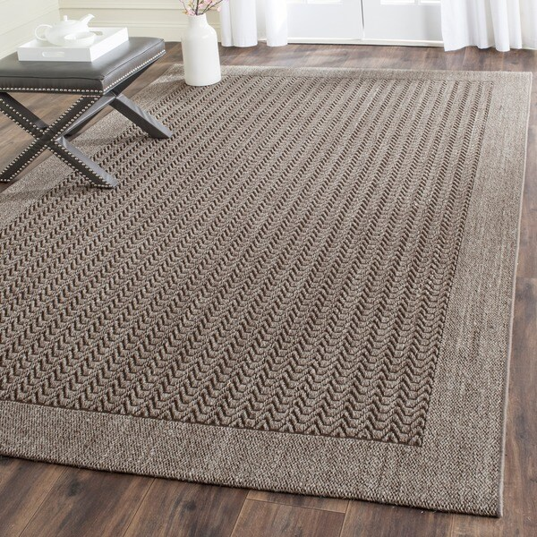 shop safavieh palm beach silver sisal rug 8 39 x 11 39 on sale free shipping today overstock. Black Bedroom Furniture Sets. Home Design Ideas