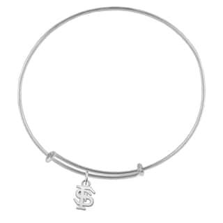 Florida State Sterling Silver Charm Adjustable Bracelet