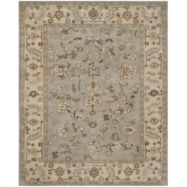 Safavieh Handmade Heritage Timeless Traditional Beige/ Grey Wool Rug - 8' x 10'