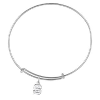 NC State Sterling Silver Charm Adjustable Bracelet