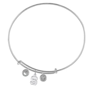 NC State Adjustable Bracelet with Charms