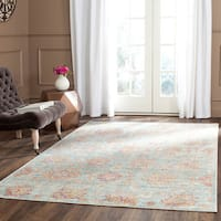 Safavieh Sevilla Light Blue/ Multi Viscose Rug - 9'6 x 13'