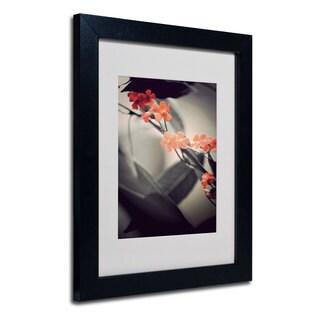 Philippe Sainte-Laudy 'Soft Grey 1' White Matte, Black Framed Wall Art