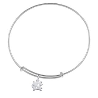 UNC Sterling Silver Charm Adjustable Bracelet