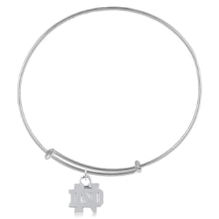 Notre Dame Sterling Silver Charm Adjustable Bracelet