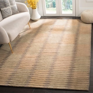 Safavieh Hand-knotted Santa Fe Modern Sage/ Ivory Wool Rug (10' x 14')