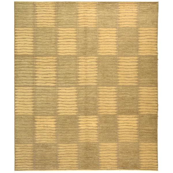 Safavieh Hand-knotted Santa Fe Modern Sage/ Ivory Wool Rug - 10' x 14'