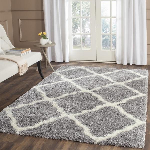 Safavieh Montreal Shag Grey/ Ivory Polyester Rug (10' x 14')