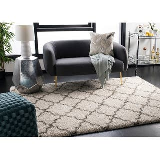 Safavieh Hudson Quatrefoil Shag Ivory/ Grey Large Area Rug (10' x 14')|https://ak1.ostkcdn.com/images/products/10464516/P17555529.jpg?impolicy=medium