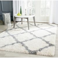 Safavieh Montreal Shag Ivory/ Grey Polyester Rug - 10' x 14'