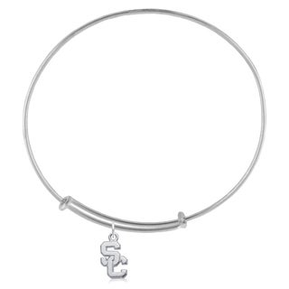 USC Sterling Silver Charm Adjustable Bracelet