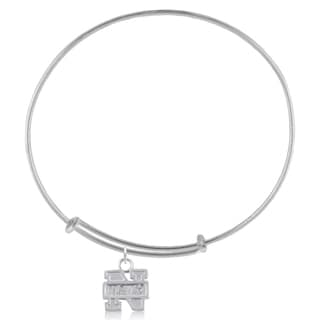 Navy Sterling Silver Charm Adjustable Bracelet
