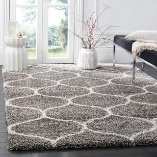 safavieh hudson shag modern ogee grey ivory large area rug 10u0027 x 14