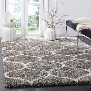 Safavieh Hudson Shag Modern Ogee Grey  Ivory Large Area Rug  10  x 14. Rugs   Area Rugs For Less   Overstock com