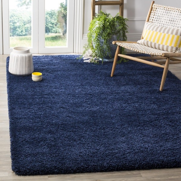 Safavieh Milan Shag Navy Blue Rug 10 x 14 Free Shipping Today