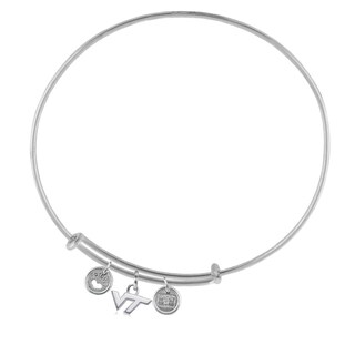 Virginia Tech Adjustable Bracelet with Charms