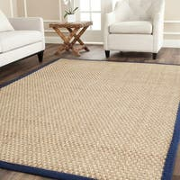 Safavieh Natural Fiber Marina Natural/ Blue Seagrass Rug - 10' x 14'