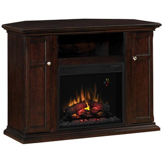 Malibu Espresso TV Stand for TV's up to 50-inches with 23-inch ClassicFlame Electric Fireplace Insert