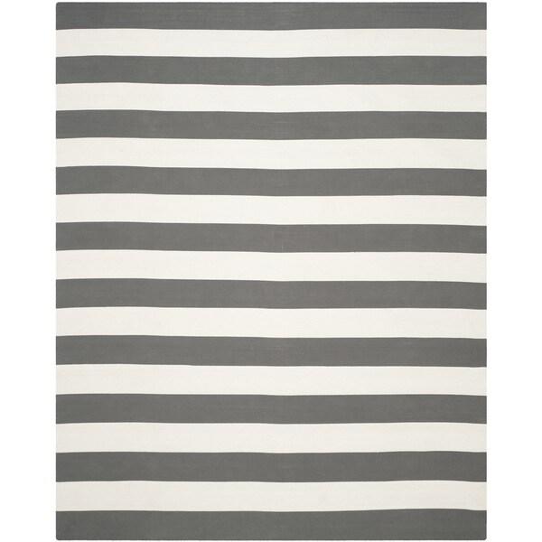 Safavieh Hand-Woven Montauk Grey/ Ivory Cotton Rug - 10' x 14'