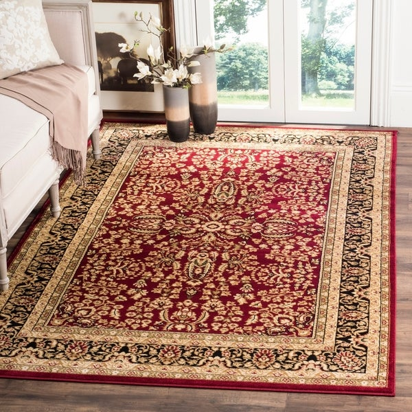 Safavieh Lyndhurst Traditional Oriental Red/ Black Rug - 10' x 14'