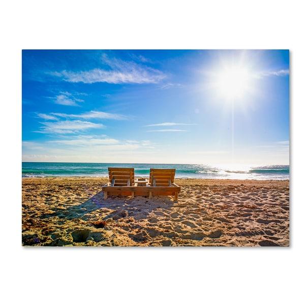 Shop Preston 'Florida Beach Chair' Canvas Art - Free ...