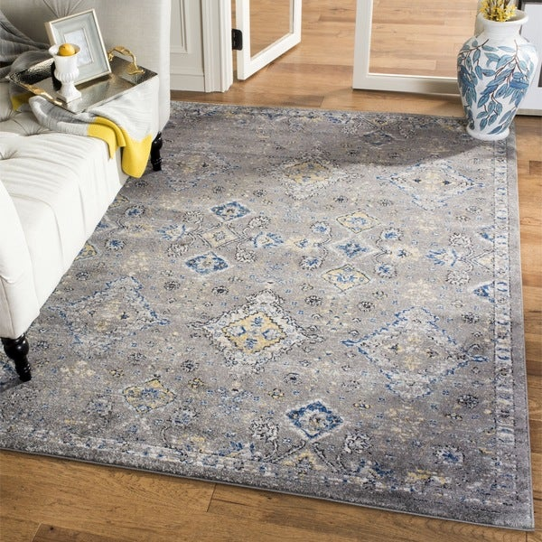 Safavieh Evoke Vintage Dark Grey Yellow Distressed Rug