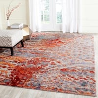 Safavieh Valencia Multi Abstract Distressed Silky Polyester Rug - 9' x 12'
