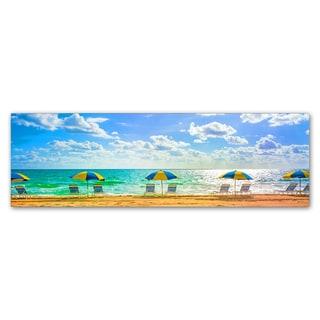 Preston 'Florida Beach Chairs Umbrellas' Canvas Art