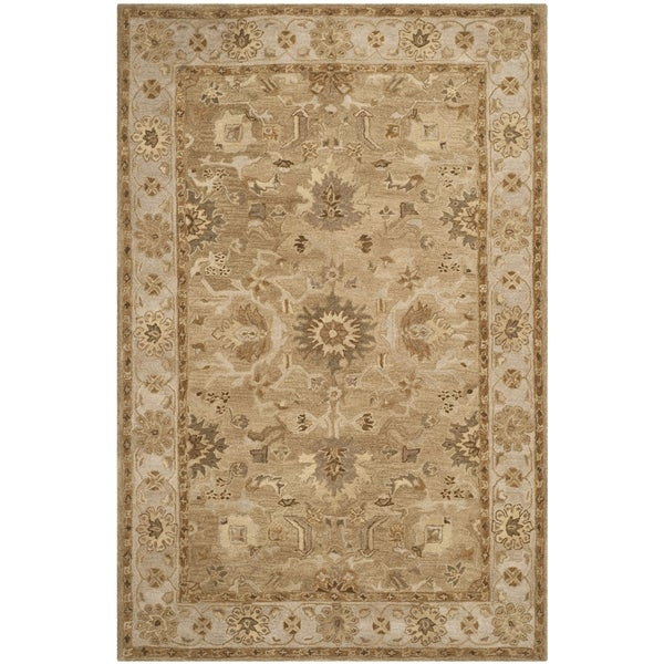 Safavieh Handmade Anatolia Oriental Tan/ Ivory Hand-spun Wool Rug - 9' x 12'