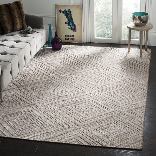 Safavieh Handmade Mirage Mid-Century Modern Grey Wool/ Viscose Rug - 9' x 12'