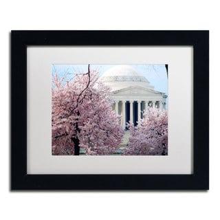 CATeyes 'Cherry Blossoms 2014-7' White Matte, Black Framed Wall Art