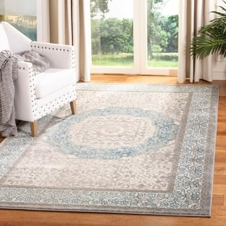Safavieh Sofia Vintage Medallion Light Grey / Blue Distressed Rug (9' x 12')|https://ak1.ostkcdn.com/images/products/10464639/P17555770.jpg?impolicy=medium