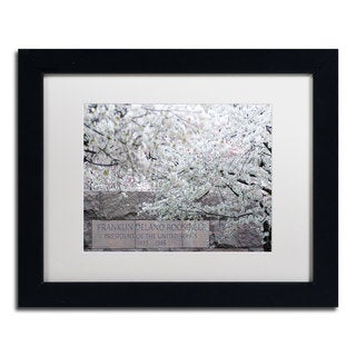 CATeyes 'Cherry Blossoms 2014-4' White Matte, Black Framed Wall Art