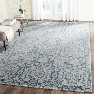 Safavieh Sofia Vintage Damask Blue/ Beige Distressed Rug (9' x 12')