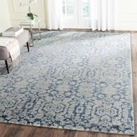 Safavieh Sofia Vintage Damask Blue/ Beige Distressed Rug (9' x 12') - 9' x 12'