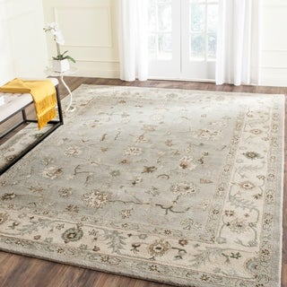 Safavieh Handmade Heritage Timeless Traditional Beige/ Grey Wool Rug (9' x 12')