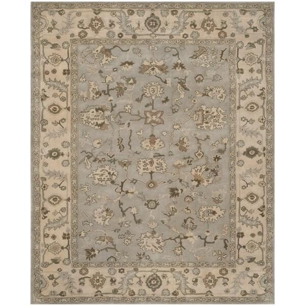 Safavieh Handmade Heritage Timeless Traditional Beige/ Grey Wool Rug - 9' x 12'