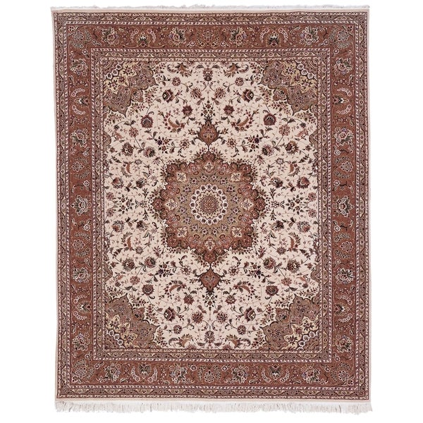 Safavieh Hand-knotted Tabriz Floral Multi Wool/ Silk Rug - 9' x 12'