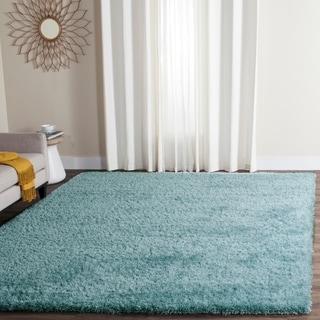 Safavieh Charlotte Shag Light Blue Plush Polyester Rug (9' x 12')