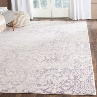 Safavieh Passion Watercolor Vintage Lavender/ Ivory Distressed Rug (9' x 12')|https://ak1.ostkcdn.com/images/products/10464678/P17555804.jpg?impolicy=medium
