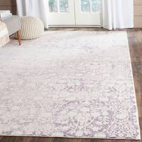 Safavieh Passion Watercolor Vintage Lavender/ Ivory Distressed Rug - 9' x 12'