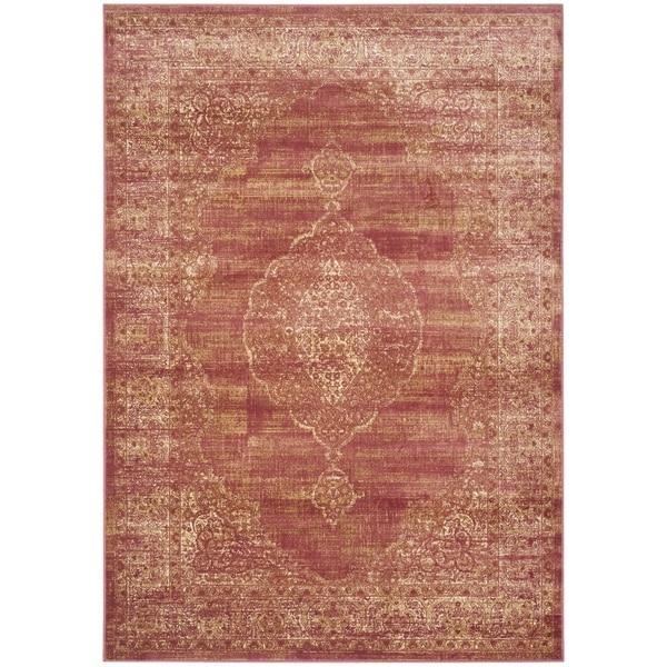 Safavieh Vintage Oriental Rust Distressed Silky Viscose Rug - 8'10 x 12'2