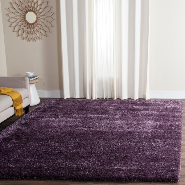 Safavieh charlotte shag lavender plush polyester rug 9 39 x for 10x14 bedroom