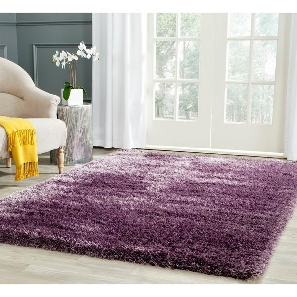 Safavieh Charlotte Shag Lavender Plush Polyester Rug - 9' x 12'