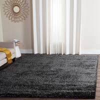 Safavieh Charlotte Shag Charcoal Plush Polyester Rug - 9' x 12'